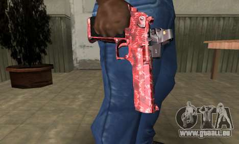 Red Chest Deagle für GTA San Andreas zweiten Screenshot
