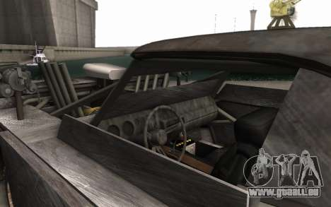Dodge Charger Infernal Bulldozer für GTA San Andreas Rückansicht