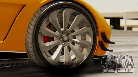 Pegassi Osyra Full Extras pour GTA San Andreas sur la vue arrière gauche