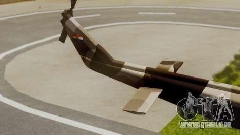 Bell UH-1 Paraguay für GTA San Andreas zurück linke Ansicht