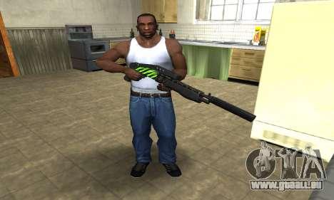 SPAS-12 Green Lines für GTA San Andreas dritten Screenshot