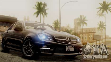 Mercedes-Benz C63 AMG 2015 Edition One pour GTA San Andreas vue de côté