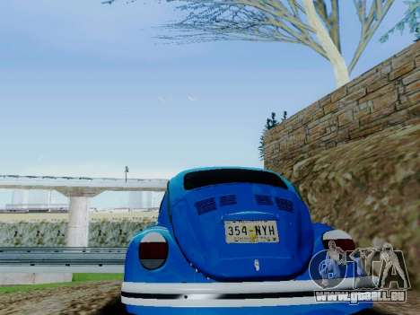 Volkswagen Beetle 1980 Stanced v1 für GTA San Andreas Unteransicht