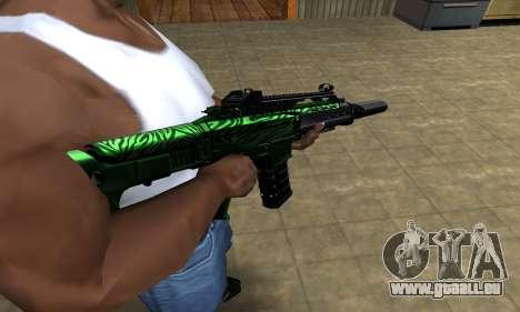 Full Green M4 für GTA San Andreas