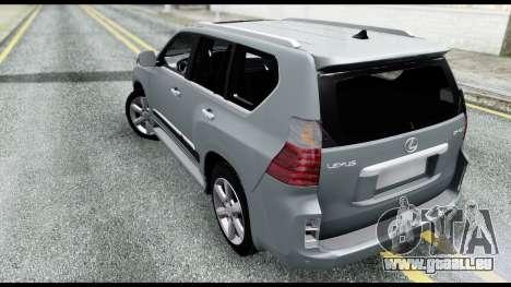 Lexus GX460 pour GTA San Andreas laissé vue