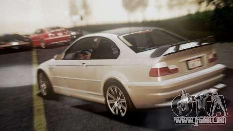 BMW M3 GTR Street Edition pour GTA San Andreas laissé vue