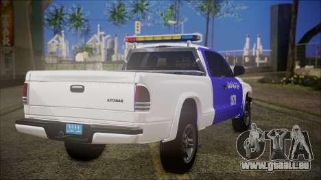 Dodge Dakota Iraqi Police für GTA San Andreas linke Ansicht