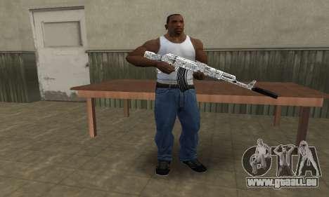 Camper AK-47 pour GTA San Andreas troisième écran