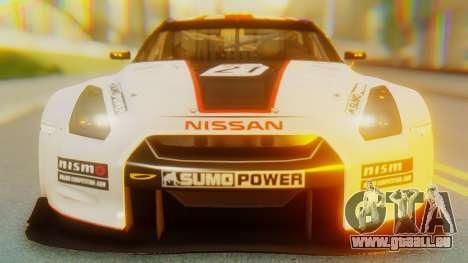 Nissan GT-R GT1 Sumo Tuning pour GTA San Andreas vue intérieure