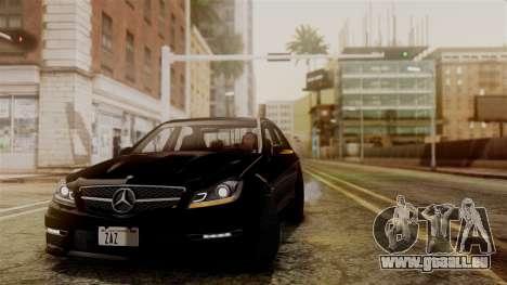 Mercedes-Benz C63 AMG 2015 Edition One pour GTA San Andreas vue intérieure
