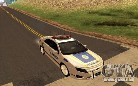Ford Taurus Ukraine Police für GTA San Andreas zurück linke Ansicht