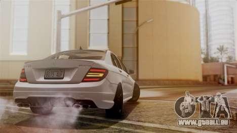 Mercedes-Benz C63 AMG 2015 Edition One pour GTA San Andreas vue de dessus