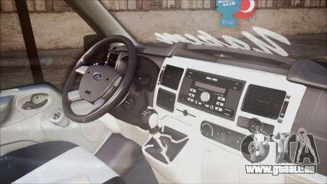 B. O. Ford Transit Bau für GTA San Andreas rechten Ansicht