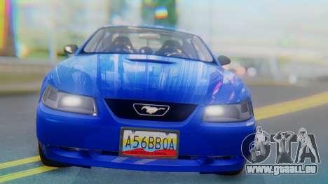 Ford Mustang 1999 Clean pour GTA San Andreas vue arrière