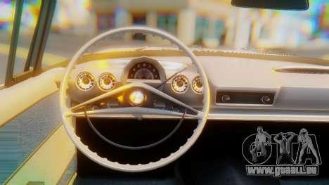 Chevrolet Impala 1960 pour GTA San Andreas vue de droite