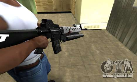 Modern Black M4 für GTA San Andreas