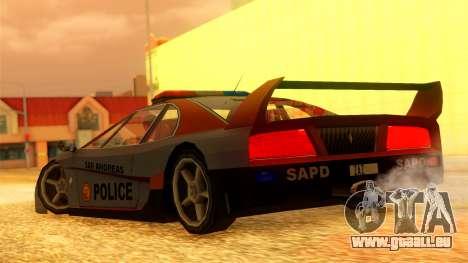Police Turismo pour GTA San Andreas laissé vue