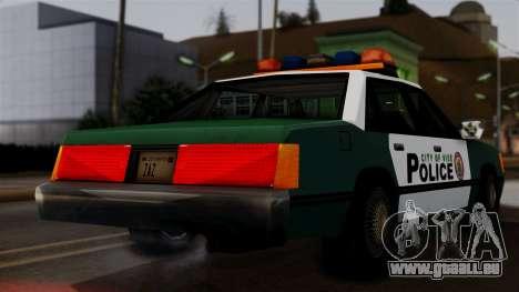 VCPD Cruiser pour GTA San Andreas sur la vue arrière gauche