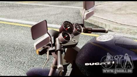 Ducati FCR-900 v4 für GTA San Andreas Rückansicht