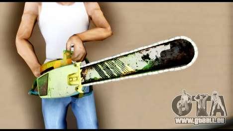 Brasileiro Chainsaw pour GTA San Andreas troisième écran