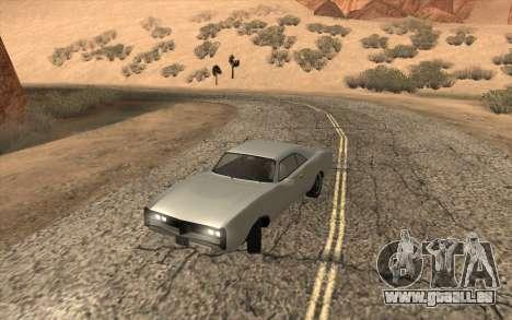 Imponte Dukes SA Style pour GTA San Andreas sur la vue arrière gauche