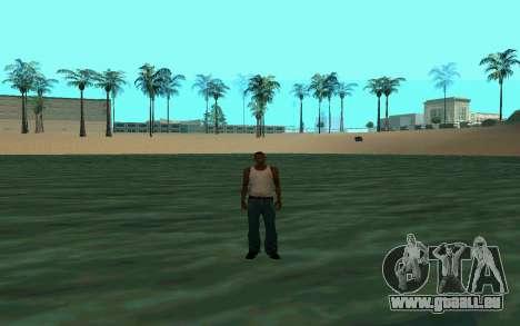 Zu Fuß auf dem Wasser für GTA San Andreas zweiten Screenshot