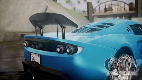 Hennessey Venom GT 2012 U.S.A American pour GTA San Andreas vue intérieure