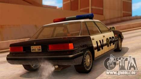 Police LV Intruder pour GTA San Andreas laissé vue