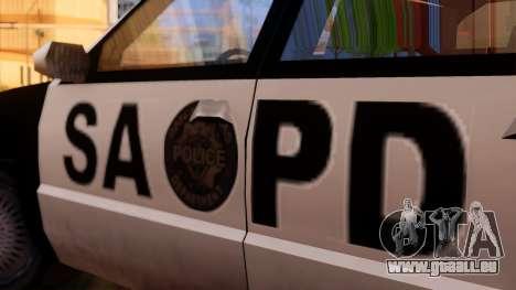 Police SA Premier für GTA San Andreas zurück linke Ansicht