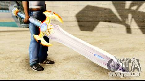 L'épée du paladin pour GTA San Andreas deuxième écran