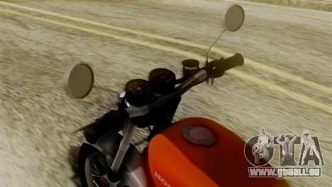Honda CG 125 Classic für GTA San Andreas zurück linke Ansicht