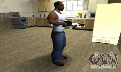 White with Black Shotgun pour GTA San Andreas troisième écran