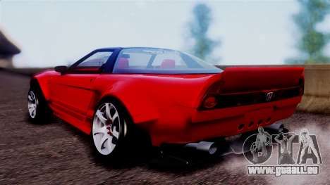 Honda NSX pour GTA San Andreas laissé vue