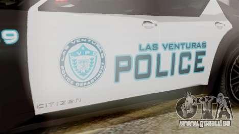 Hunter Citizen from Burnout Paradise Police LV für GTA San Andreas rechten Ansicht