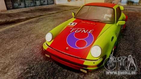 Porsche 911 Turbo (930) 1985 Kit A PJ für GTA San Andreas Innenansicht