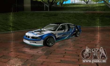 BMW M3 E46 ToyoTires GT-SHOP pour GTA San Andreas