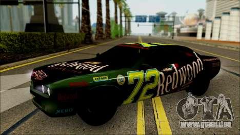 GTA 5 Bravado Gauntlet Redwood HQLM pour GTA San Andreas vue arrière