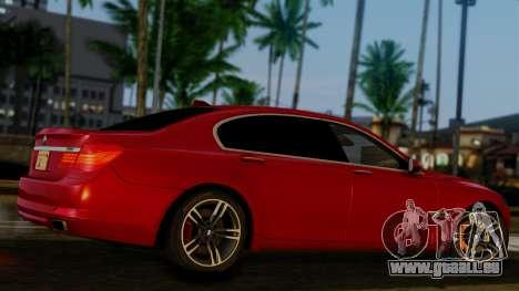 BMW 7 Series F02 2013 pour GTA San Andreas vue arrière