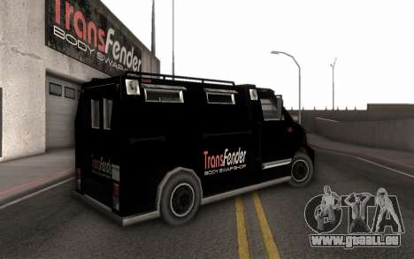 Machine de livraison des pièces tuning pour GTA San Andreas laissé vue