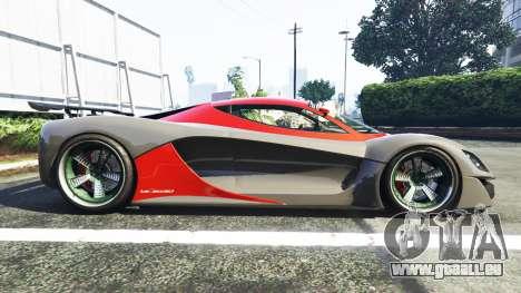 GTA 5 Grotti Turismo R La Ferrari vue latérale gauche