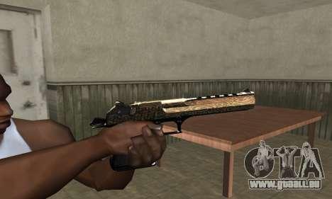 Brown Jungles Deagle pour GTA San Andreas