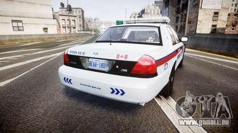 Ford Crown Victoria Bohan Police [ELS] pour GTA 4 Vue arrière de la gauche
