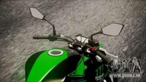 Kawasaki Z800 Monster Energy pour GTA San Andreas vue arrière