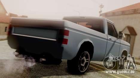 Bobcat New Edition pour GTA San Andreas laissé vue
