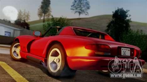 Dodge Viper RT 10 1992 pour GTA San Andreas laissé vue