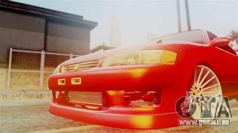 Toyota Mark 2 pour GTA San Andreas vue de droite