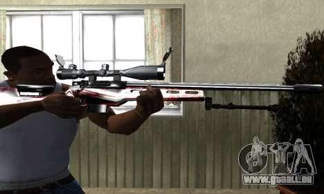 Redl Sniper Rifle pour GTA San Andreas deuxième écran