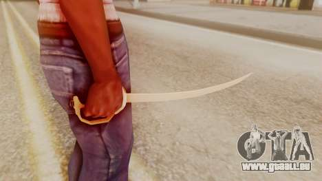 Red Dead Redemption Katana Crome Sword pour GTA San Andreas