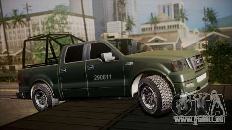 Ford F-150 Military MEX pour GTA San Andreas laissé vue
