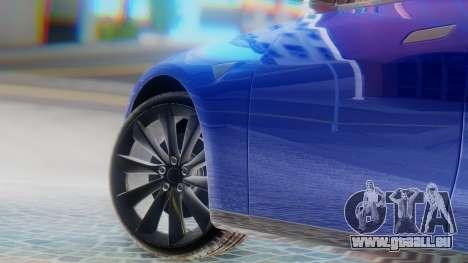 Tesla Model S pour GTA San Andreas sur la vue arrière gauche